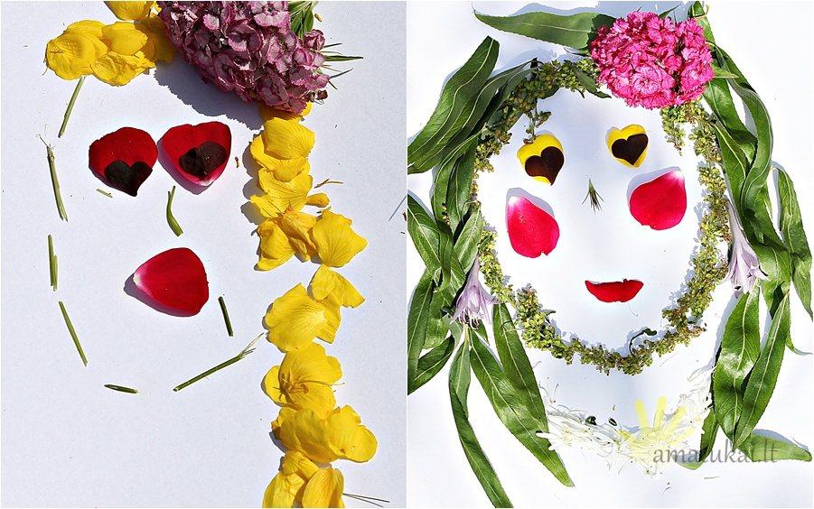 vaiku-darbeliai-veidai-is-augalu